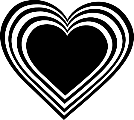 Heart clipart black and white black heart clipart 2
