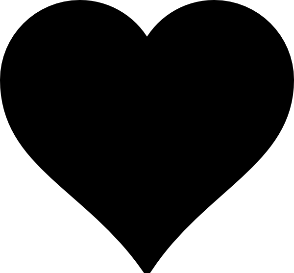 Heart clipart black and white black heart clipart