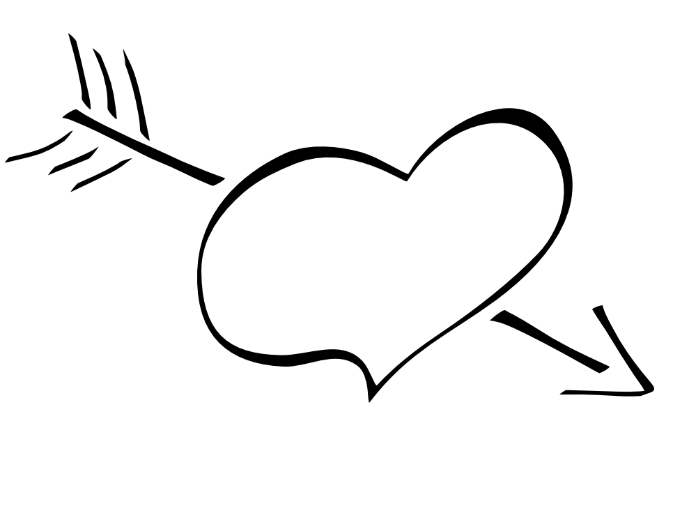 Heart clipart black and white broken heart clipart