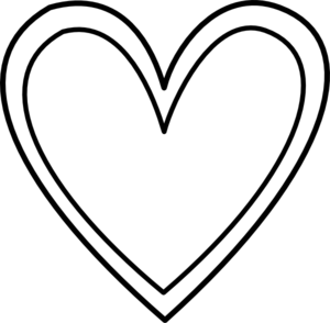 Heart clipart black and white double heart black and white clipart