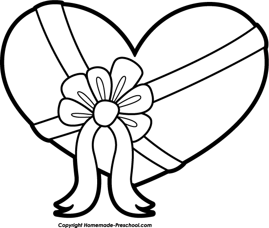 Heart clipart black and white happy valentine black and white clipart