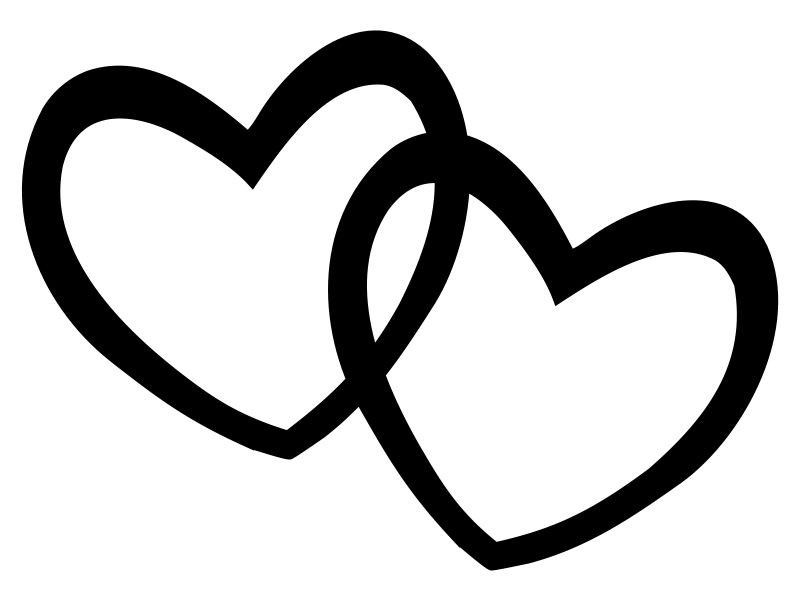 Heart clipart black and white heart black and white clip art clipart 2