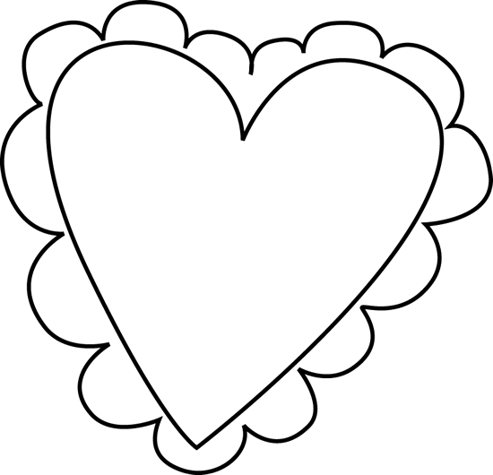 Heart clipart black and white heart black and white clipart 2