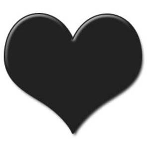 Heart clipart black and white heart black clipart