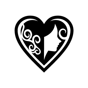 Heart clipart black and white heart clipart black love of female with white background