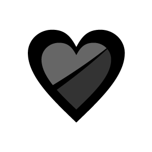 Heart clipart black and white heart clipart white alphabet with black background download