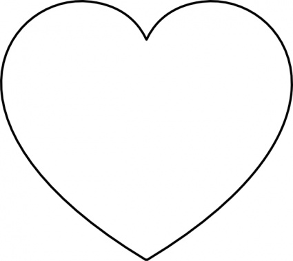 Heart clipart black and white valentine heart black and ...