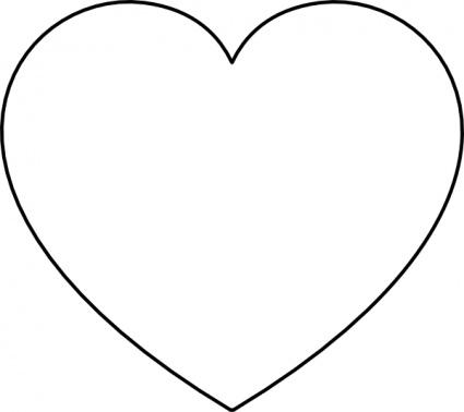 Heart clipart black and white valentine heart black and white clipart