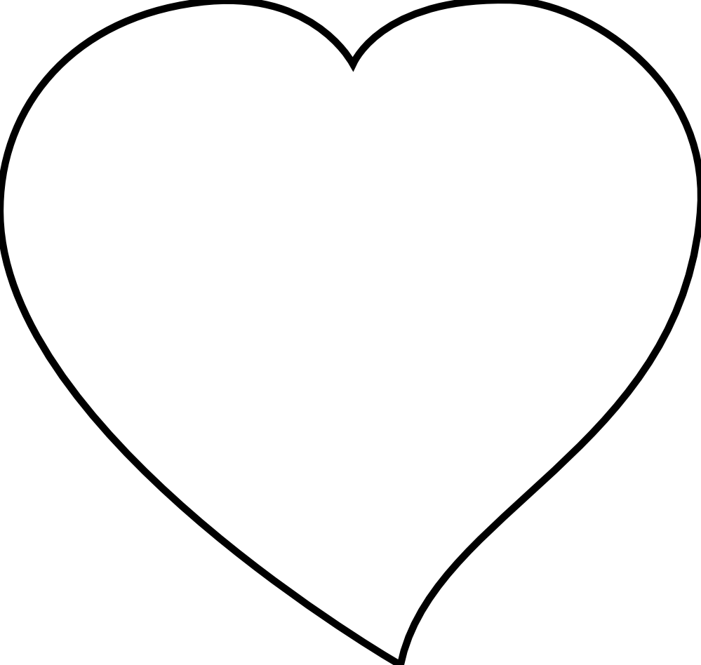 Heart clipart black and white white heart clipart