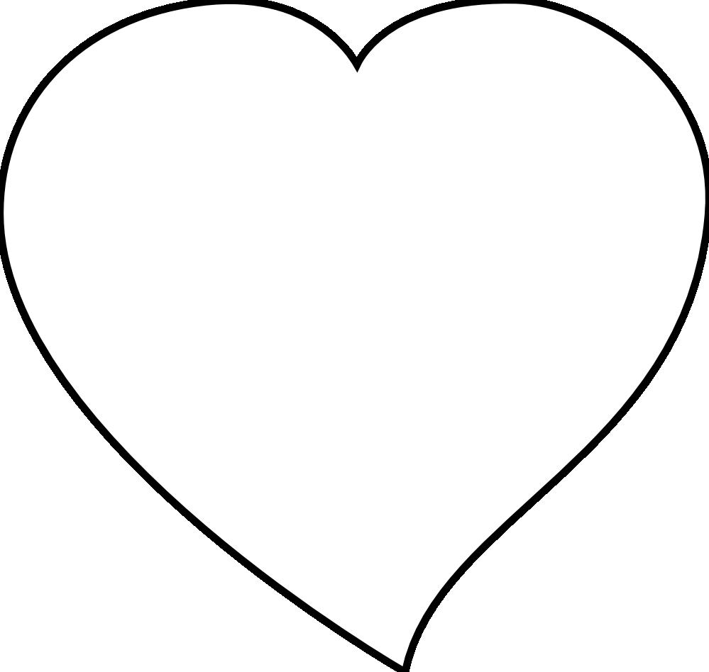 Heart clipart black and white white heart clipart