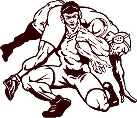 High school wrestling clipart 3