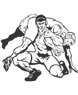 High school wrestling clipart