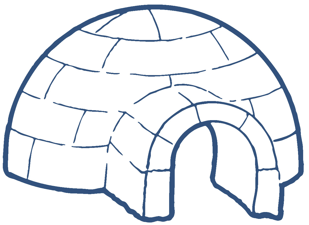 Igloo clip art black and white free clipart images 2