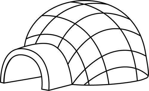 Igloo clip art black and white free clipart images 5