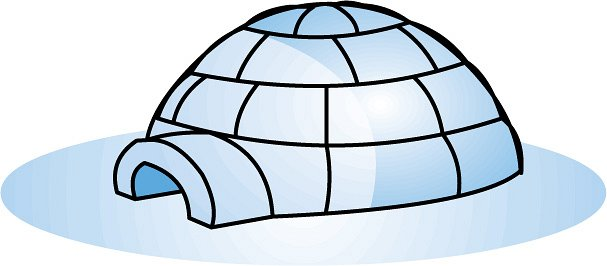Igloo clip art black and white free clipart images
