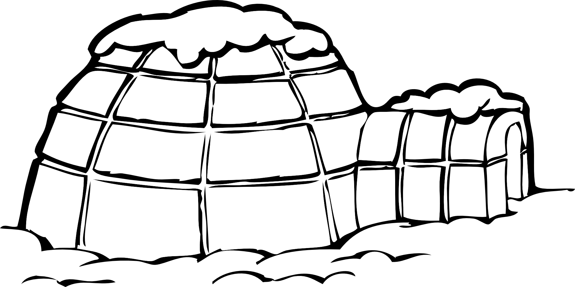 Igloo clipart black and white free images
