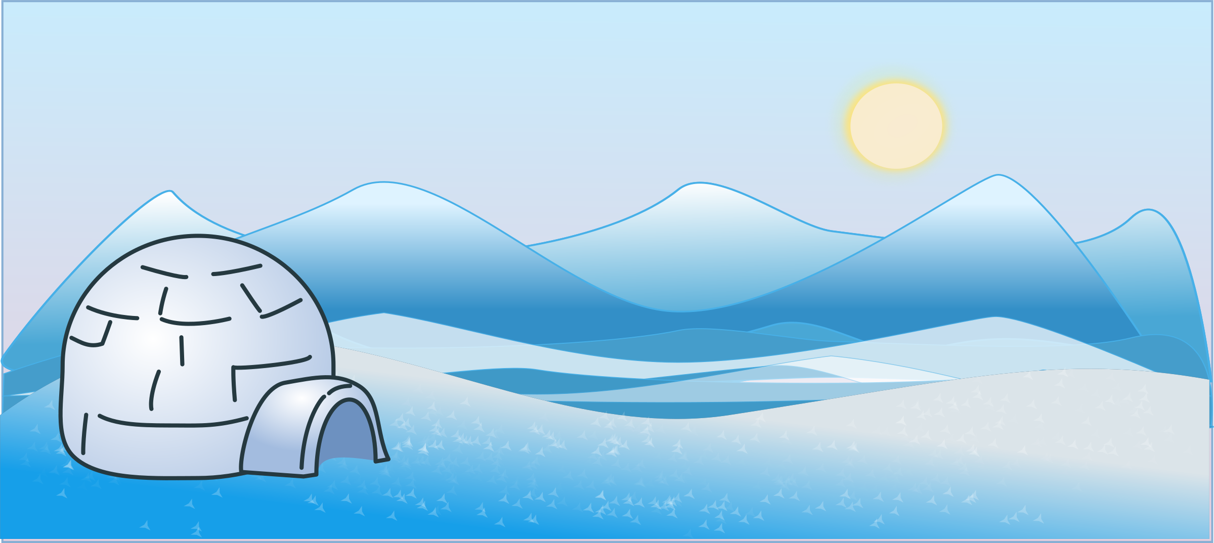 Igloo clipart ice scape
