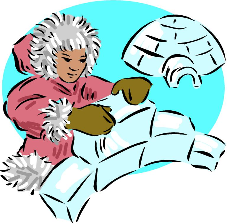 Igloo eskimo clip art