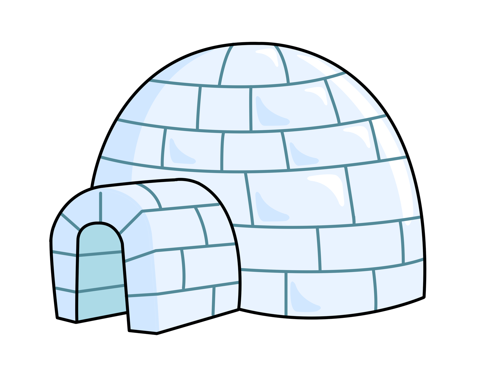 Igloo free to use clipart 2