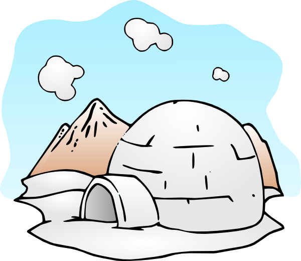 Igloo free to use clipart 3