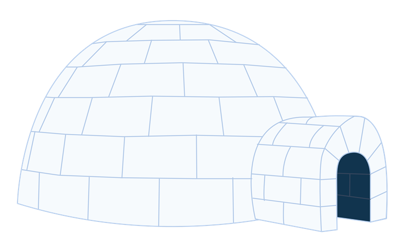 Igloo free to use clipart