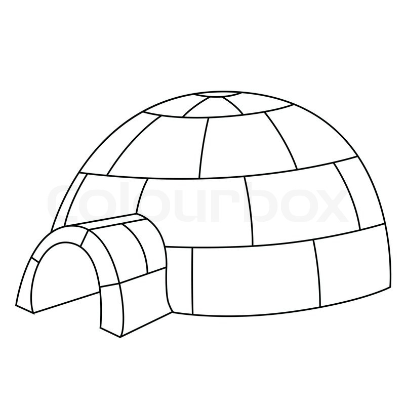 Igloo outline clipart