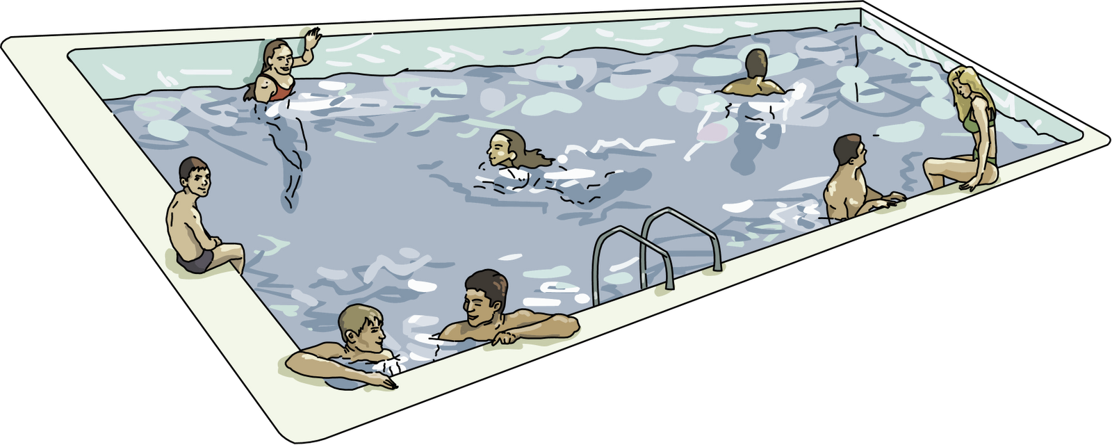 Inground pool clipart 3