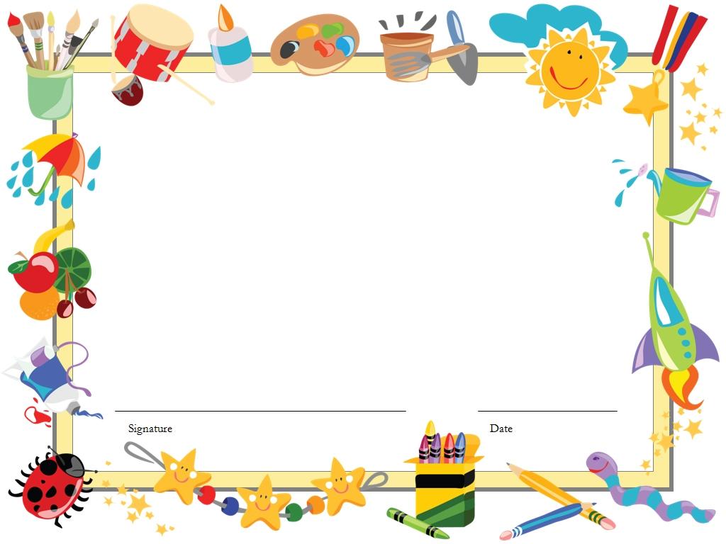 Kindergarten graduation clip art borders
