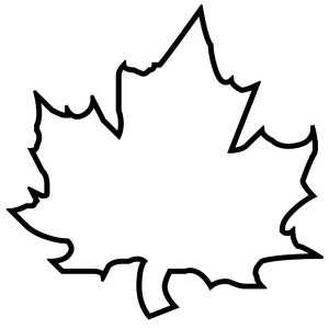 Leaf outline 3 clip art