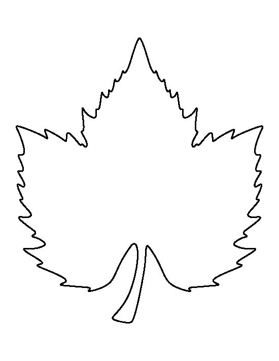 Leaf outline grape leaf pattern use the printable outline for crafts creating clip art