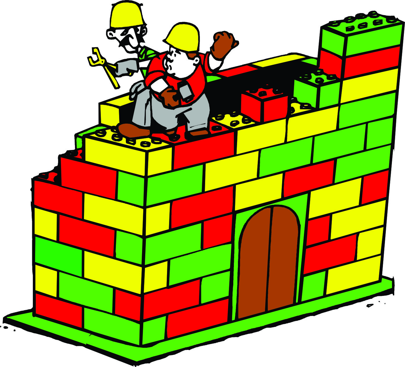 Lego cartoon clipart