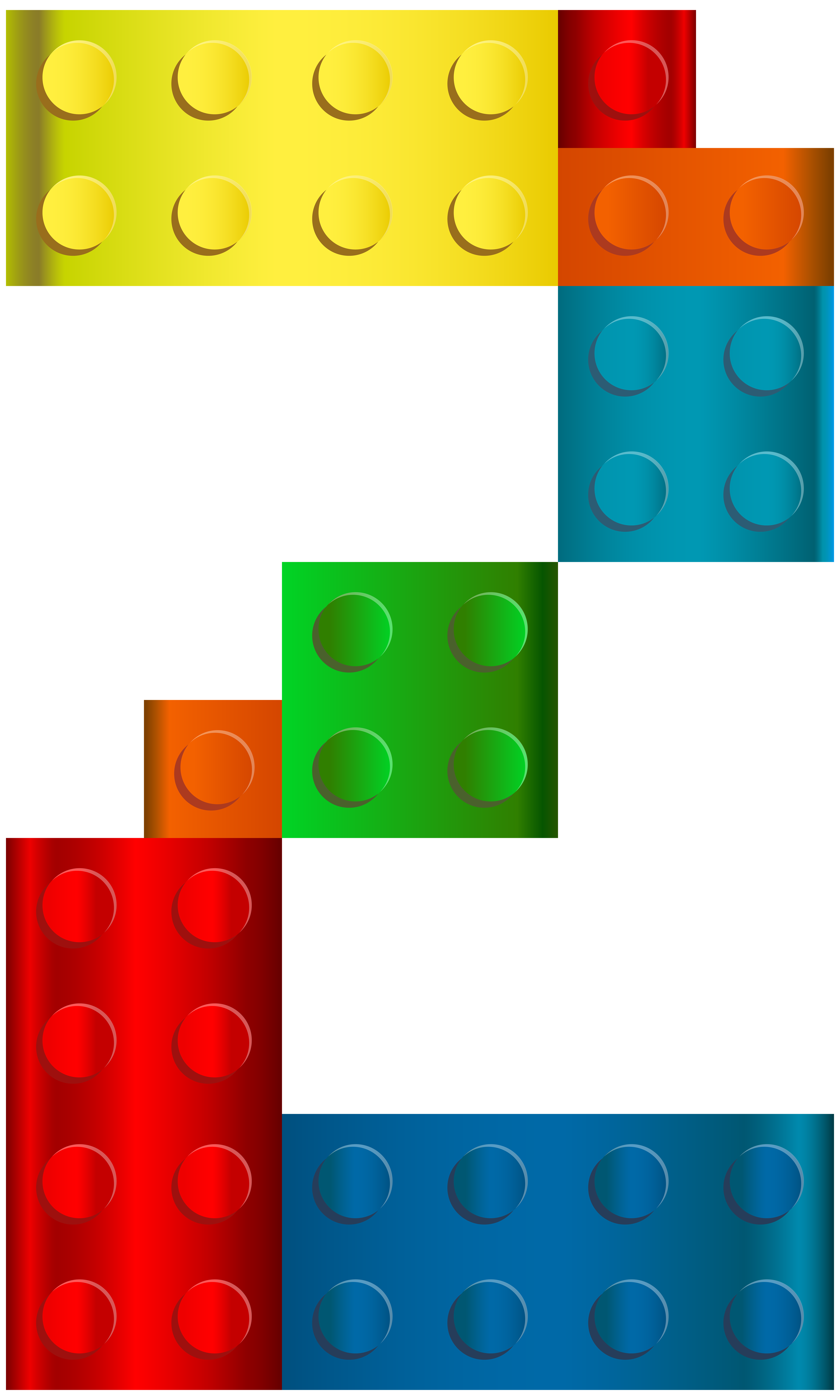 Lego number two transparent clip art image