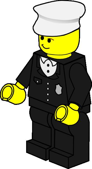 Lego town policeman clip art free vector 4vector
