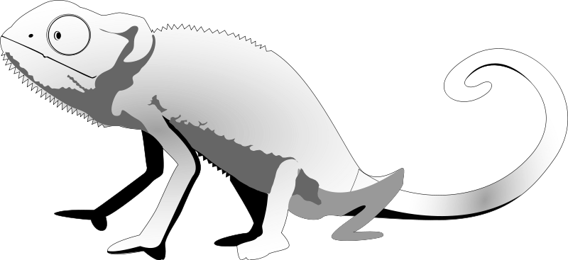 Lizard silhouette clipart