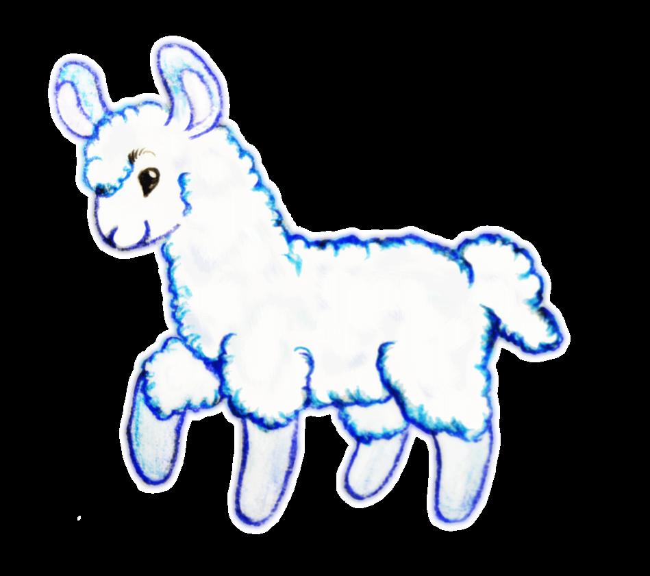 Llama clipart 2 3