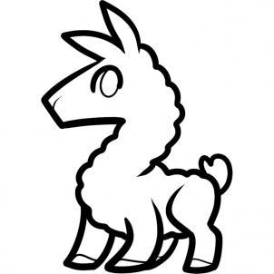 Llama drawing clipart