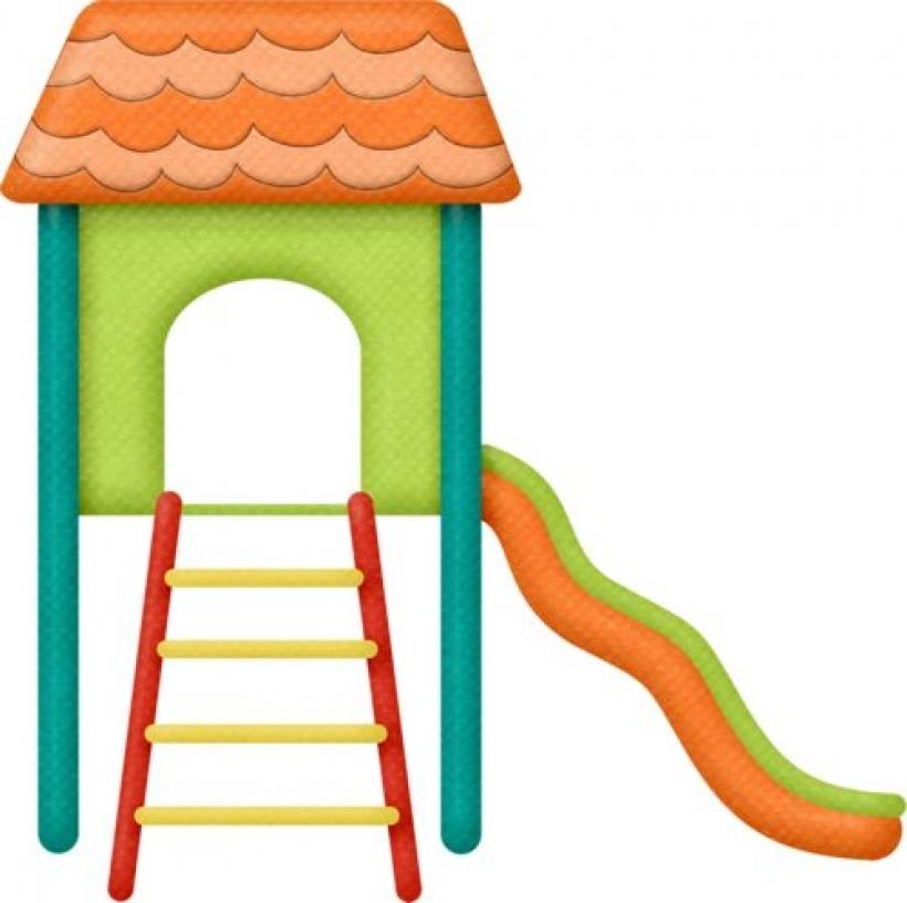 Lliellaplaygroundgalsslide2 clipart playground