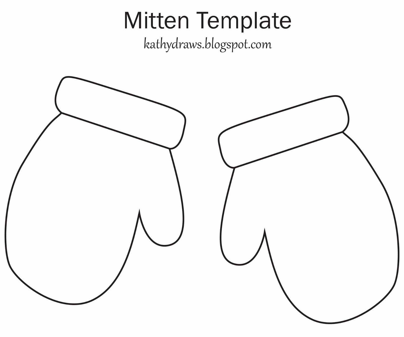 Mitten outline clipart
