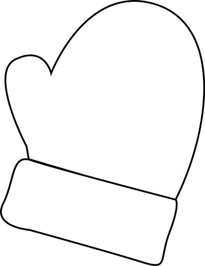 Mittens clip art black and white mitten clip art black
