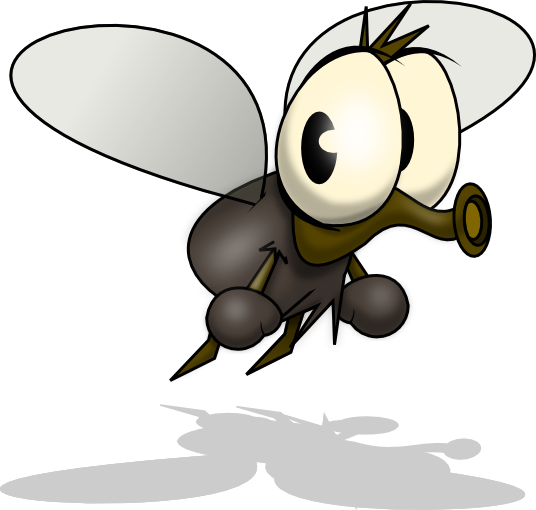 Mosquito free to use clipart 2