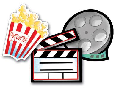 Movie night clip art 3 4