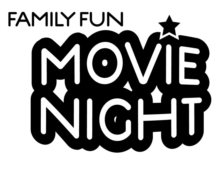 Movie night clip art 5
