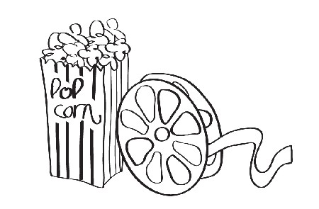 Movie night clip art 7