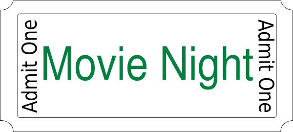 Movie night clipart 1 2