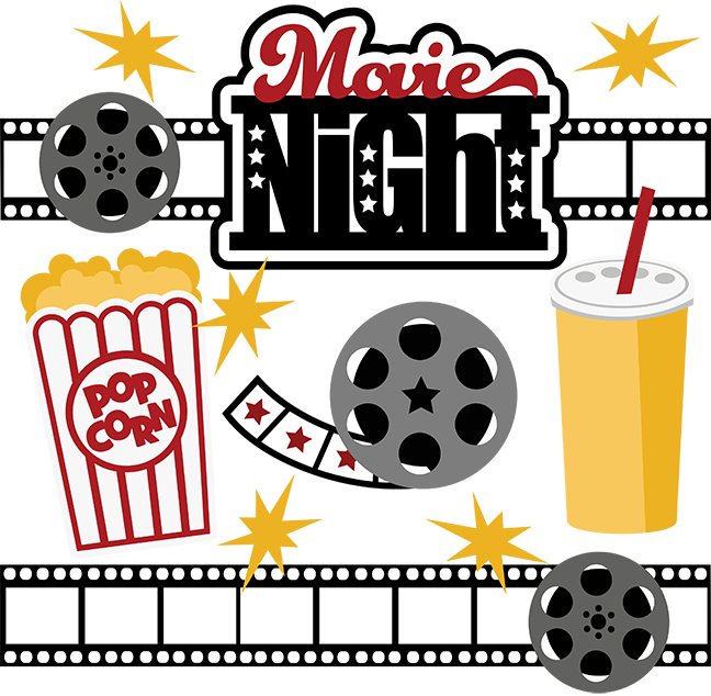 Movie night clipart 3