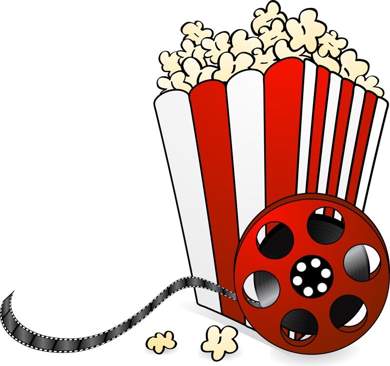 Movie night clipart 6