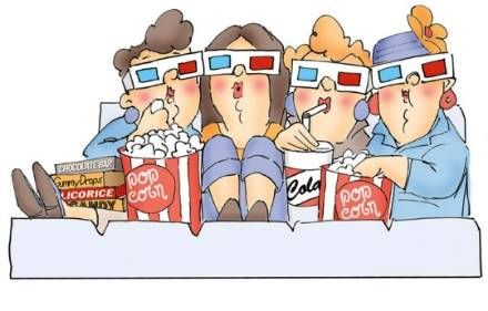 Movie night clipart 9