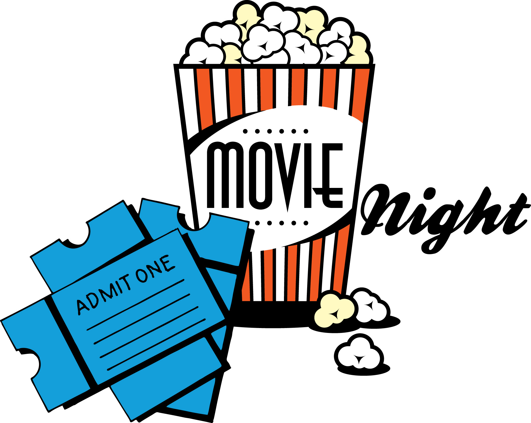Movie night clipart free images