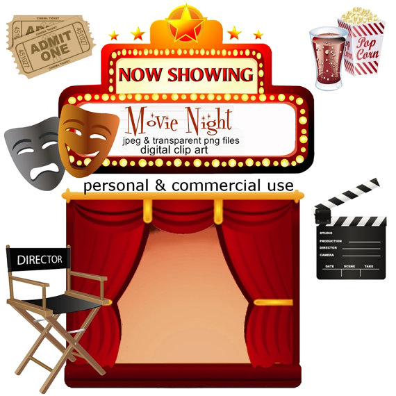 Movie night clipart the cliparts 2