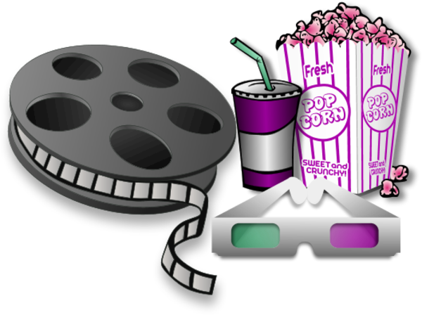 Movie night clipart the cliparts 3